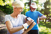 istock Senior sporty people living healthy lifestyle outdoor 1134195788