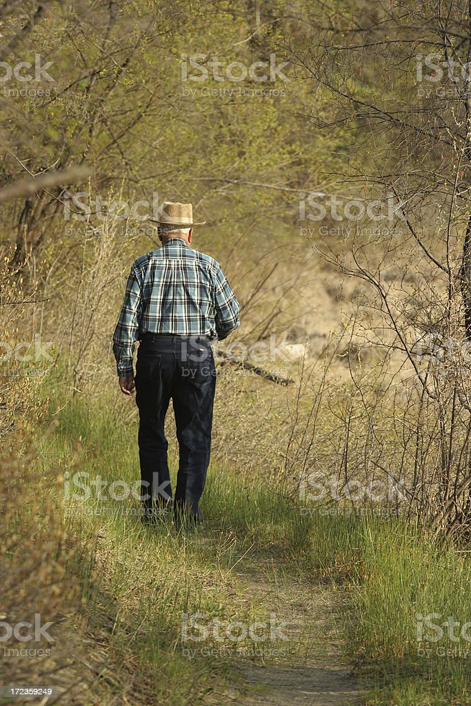 Senior Staying Fit royalty-free stock photo