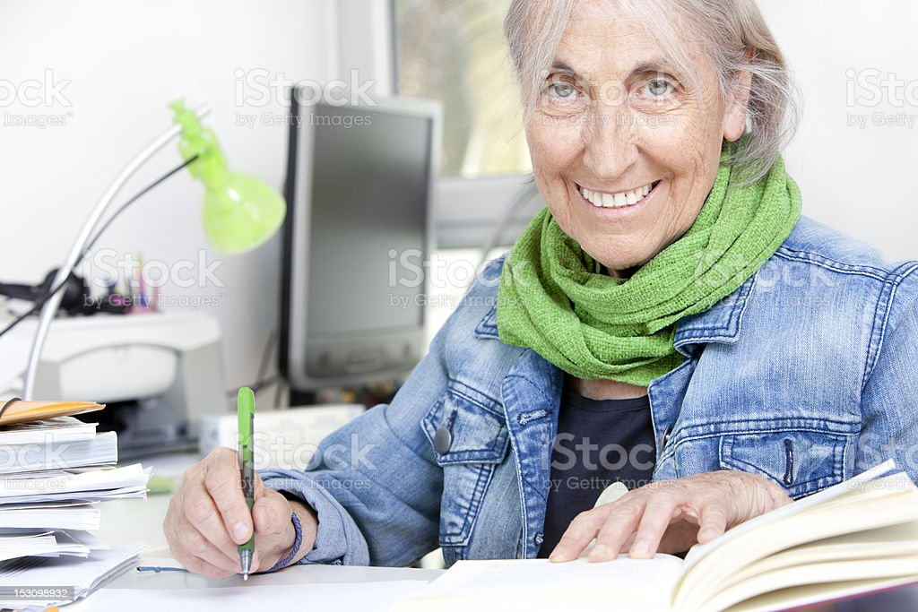 Senior student stock photo