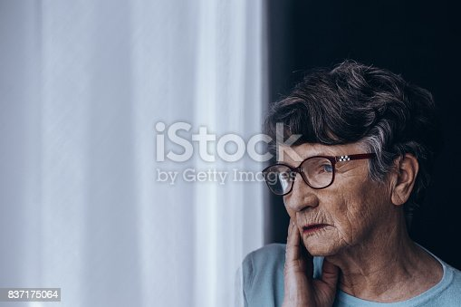istock Senior suffering from depression 837175064