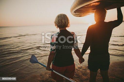 istock Senior surfers 868399498