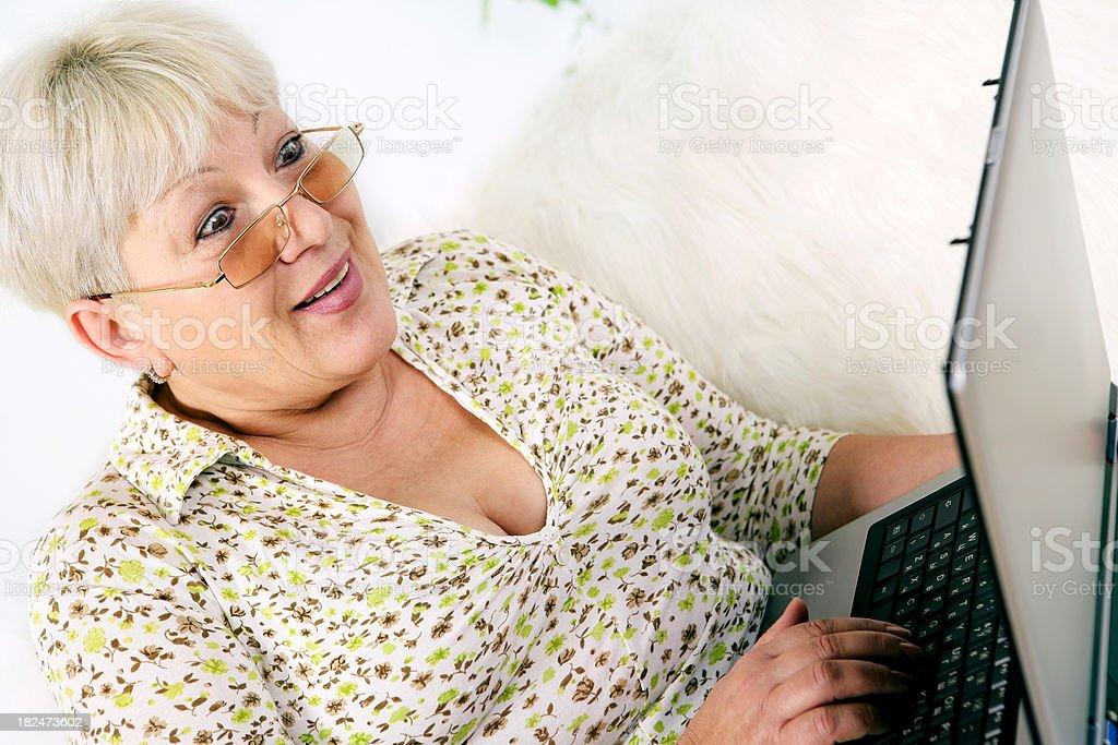 Senior Surfing the Net royalty-free stock photo