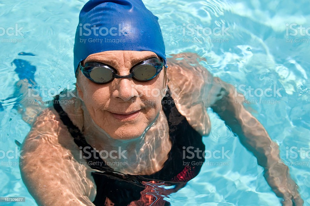 Senior swimmer royalty-free stock photo