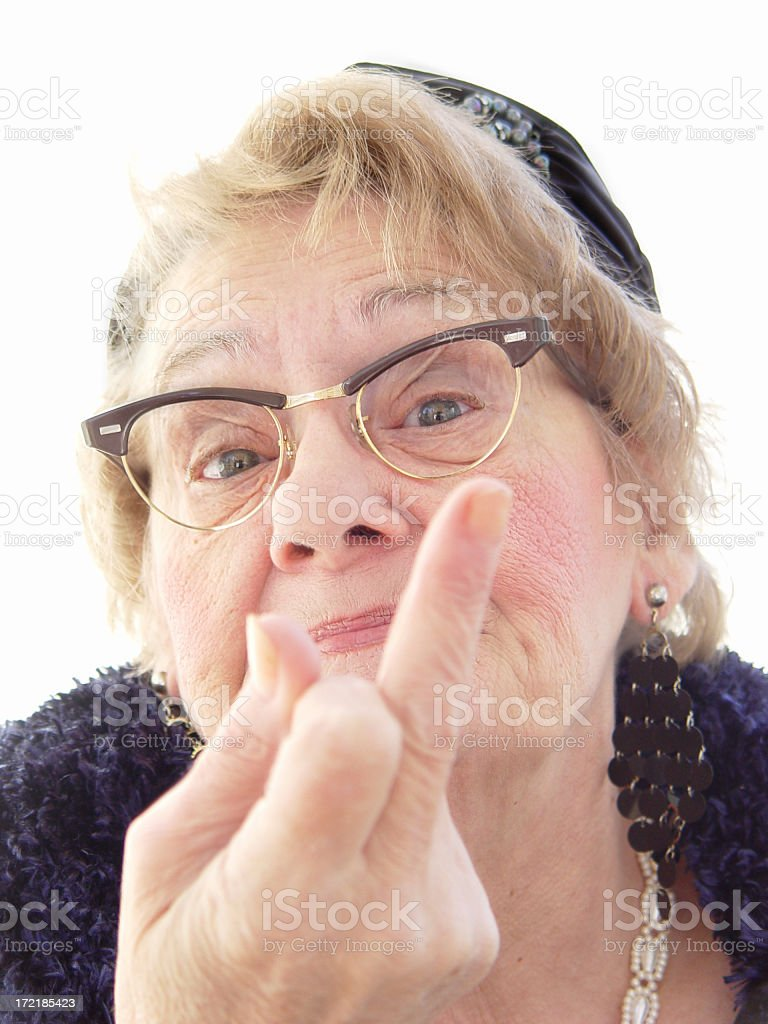 senior - take that! stock photo