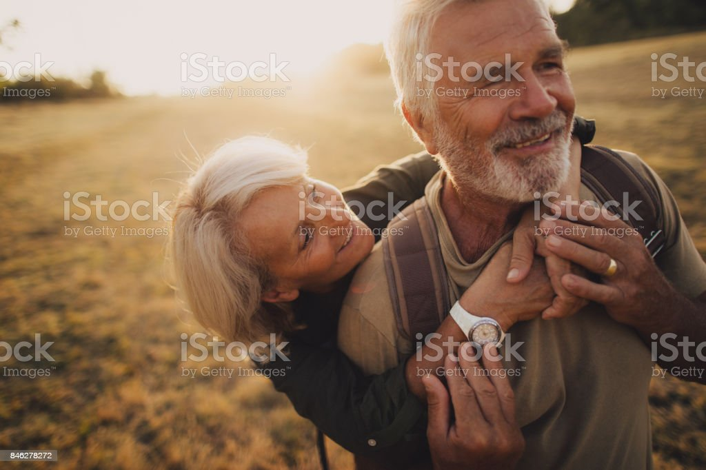 Senior Tenderness stock photo