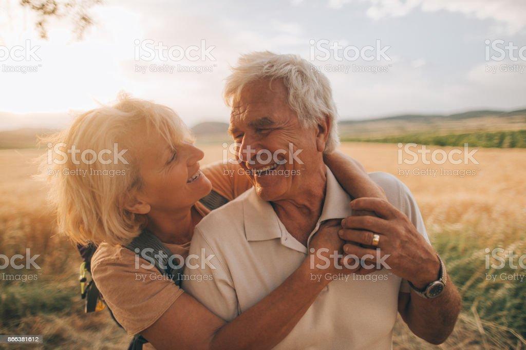 Senior Zärtlichkeit – Foto