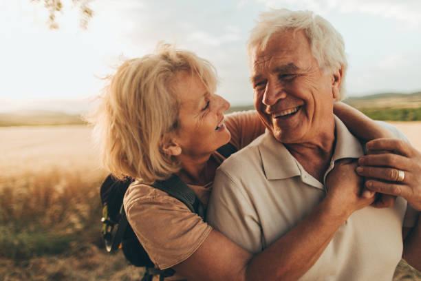 Senior tenderness stock photo
