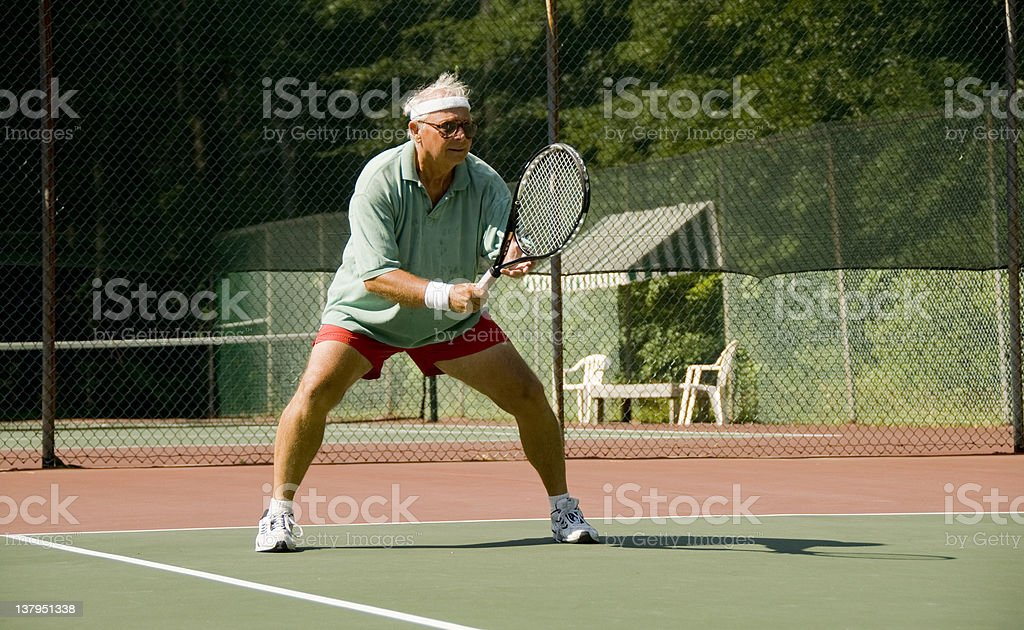 Senior Tennis stock photo