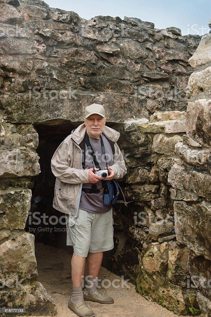 senior tourist stock photo