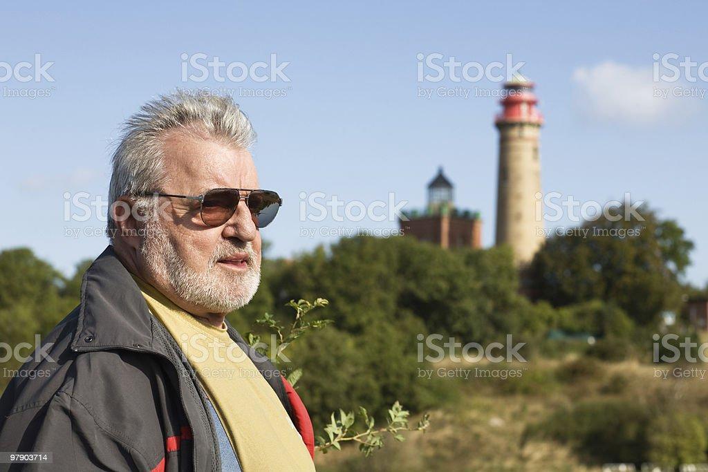 Senior tourist royalty-free stock photo