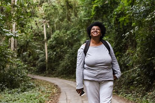 Woman at nature park