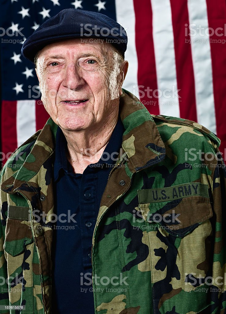 Senior US Veteran royalty-free stock photo