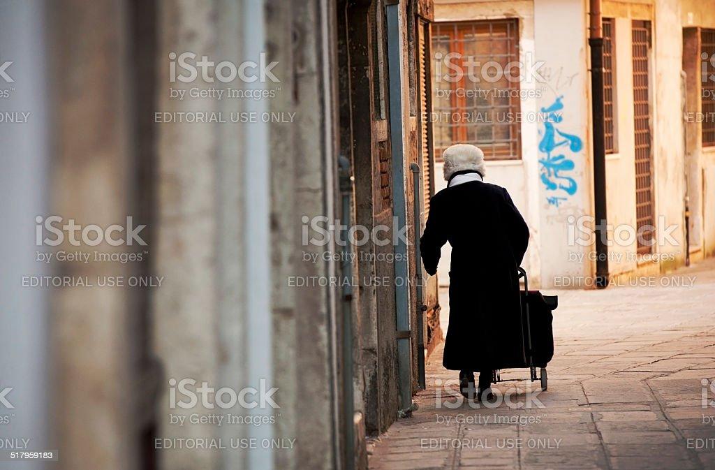 Senior Venetian Lady stock photo