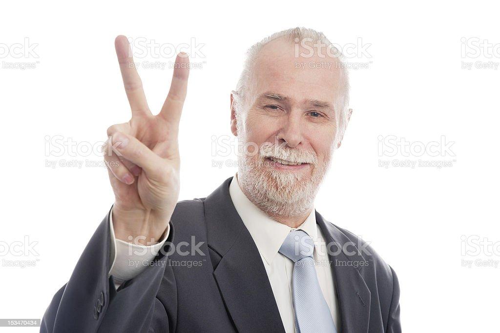 Senior Victory royalty-free stock photo