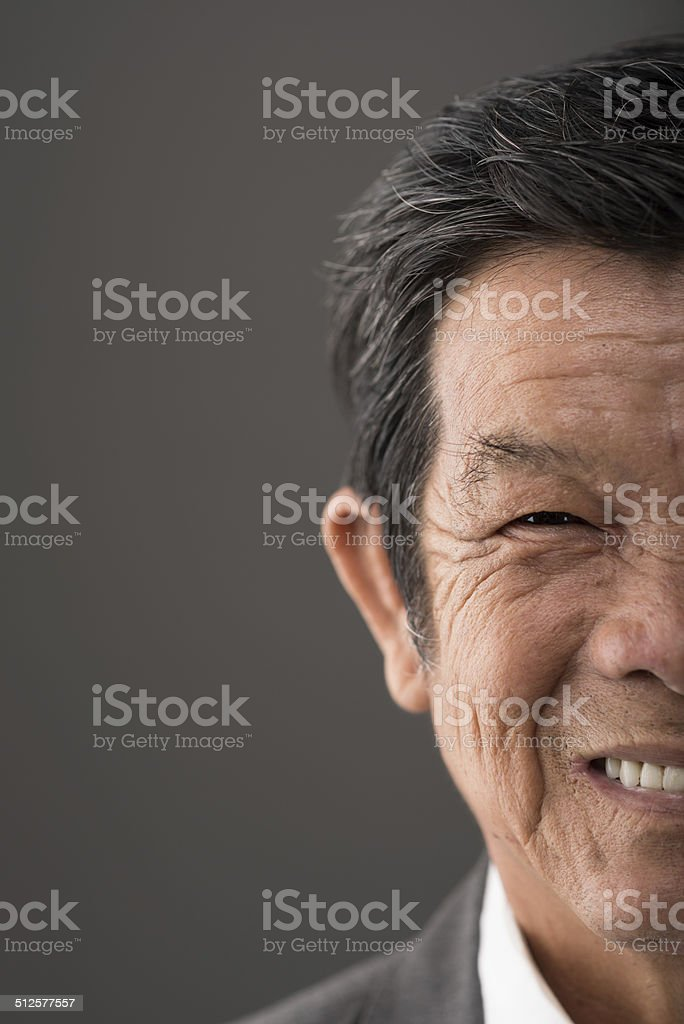 Senior Vietnamese man stock photo