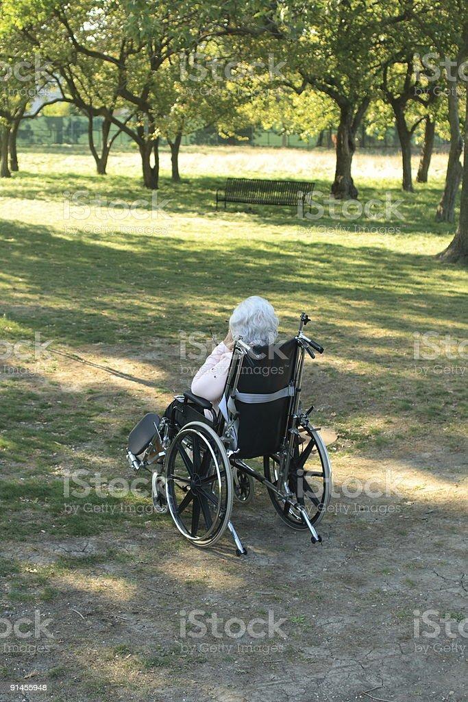 Senior Wheelchair stock photo