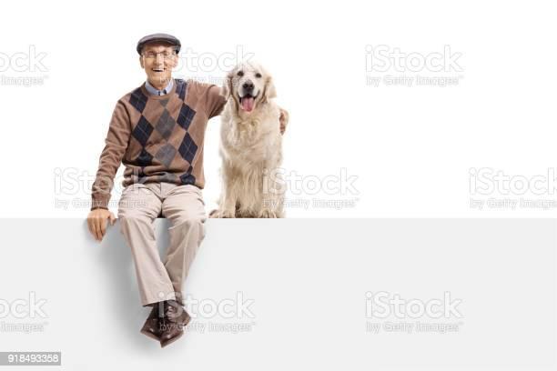 Senior with a labrador retriever dog sitting on a panel picture id918493358?b=1&k=6&m=918493358&s=612x612&h=404p9yrryvywkrodhn9eaobjdmvsm7uvdgbhc5qvewi=