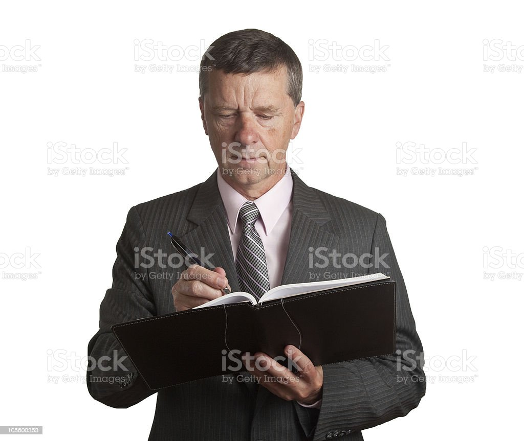 Senior with book royalty-free stock photo