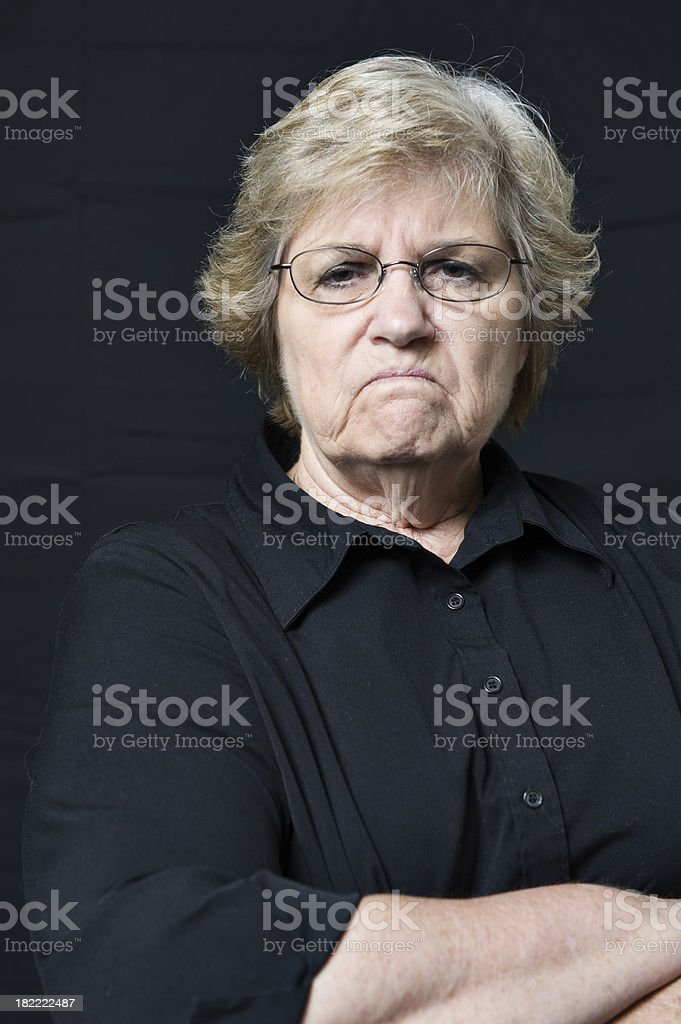 Senior with Sneer royalty-free stock photo