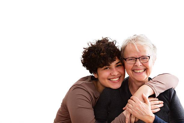 senior Frau und fürsorgliche genießen – Foto