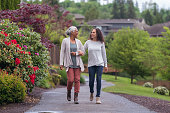 istock Senior woman and her adult daughter enjoying the outdoors together during Coronavirus 1256012776