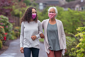 istock Senior woman and her adult daughter enjoying the outdoors together during Coronavirus 1256012777