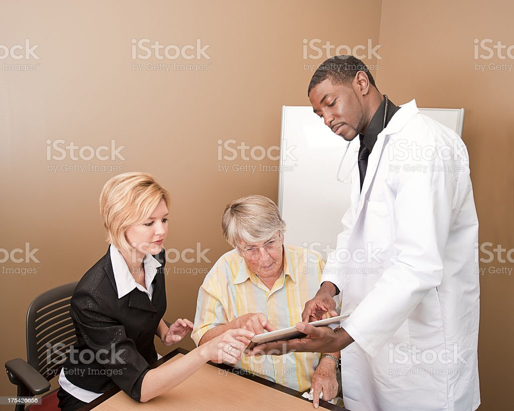 Senior Woman at a Doctors Office. royalty-free stock photo