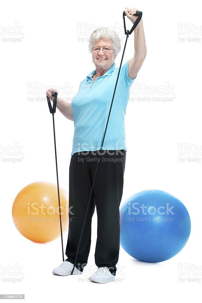 senior woman at gym royalty-free stock photo