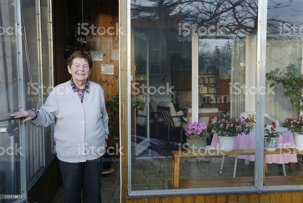 senior woman at home royalty-free stock photo