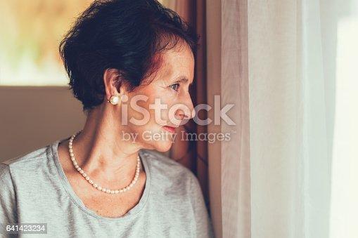 istock Senior woman at home 641423234
