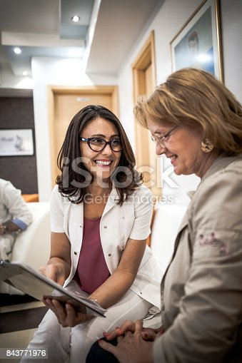 istock Senior woman at the doctor 843771976