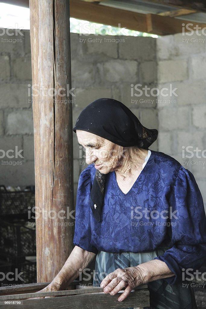 Senior woman at work royalty-free stock photo