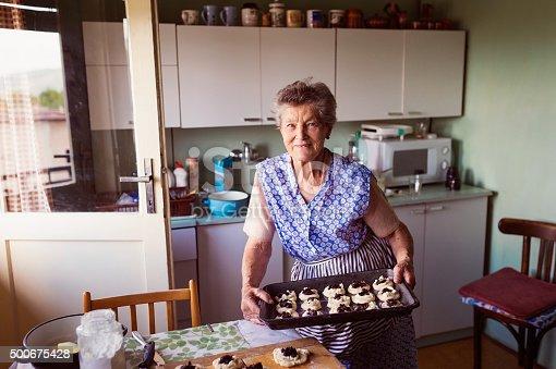 istock Senior woman baking 500675428