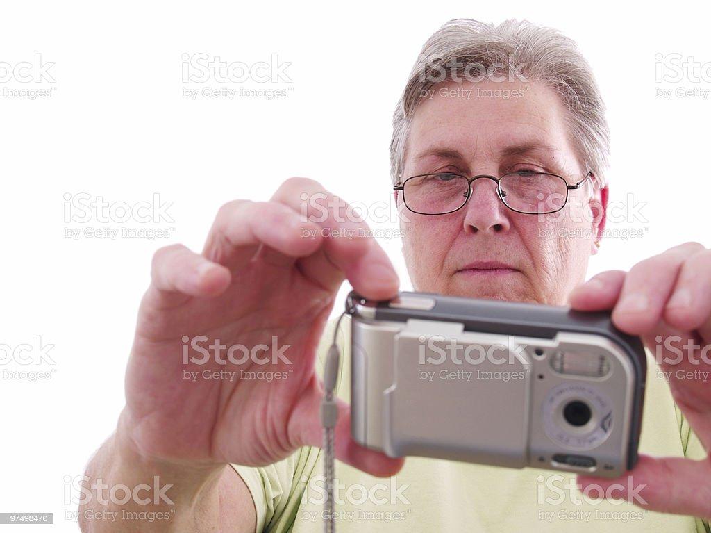 Senior Woman Camera royalty-free stock photo