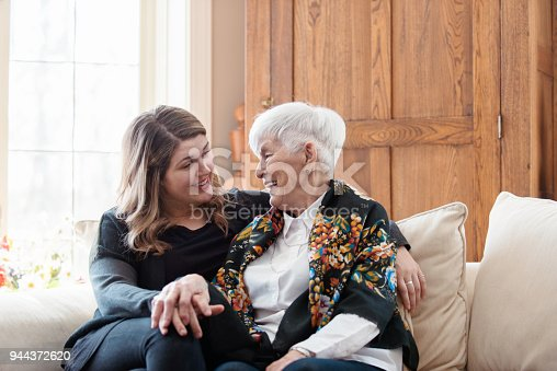 istock Senior woman celebrate mother's day with her family 944372620