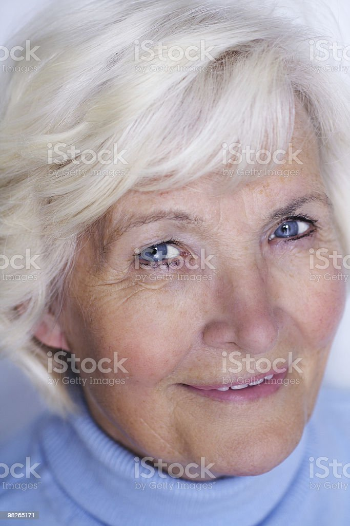 Senior woman close-up 2 royalty-free stock photo