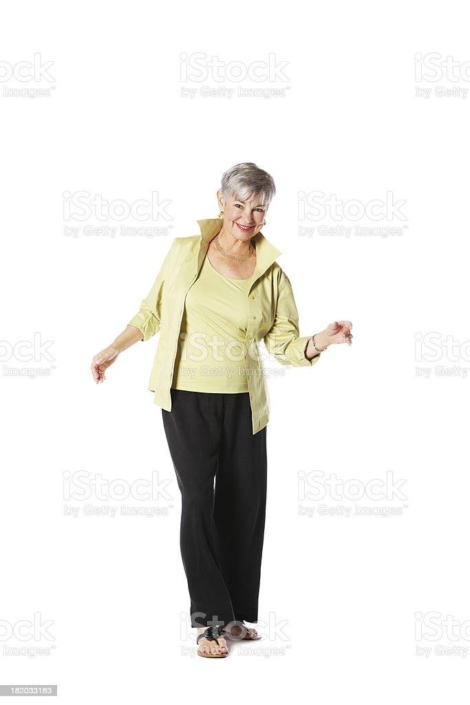 Senior Woman Doing Some Moves stock photo