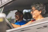 Driving, Senior Adult, Senior Women, Women, Day
