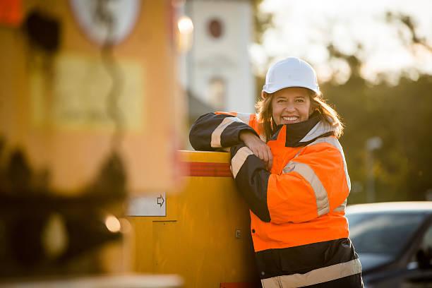 Porträt Senior Frau Ingenieur – Foto