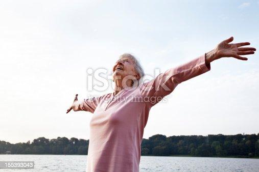 istock senior woman enjoying life 155393043