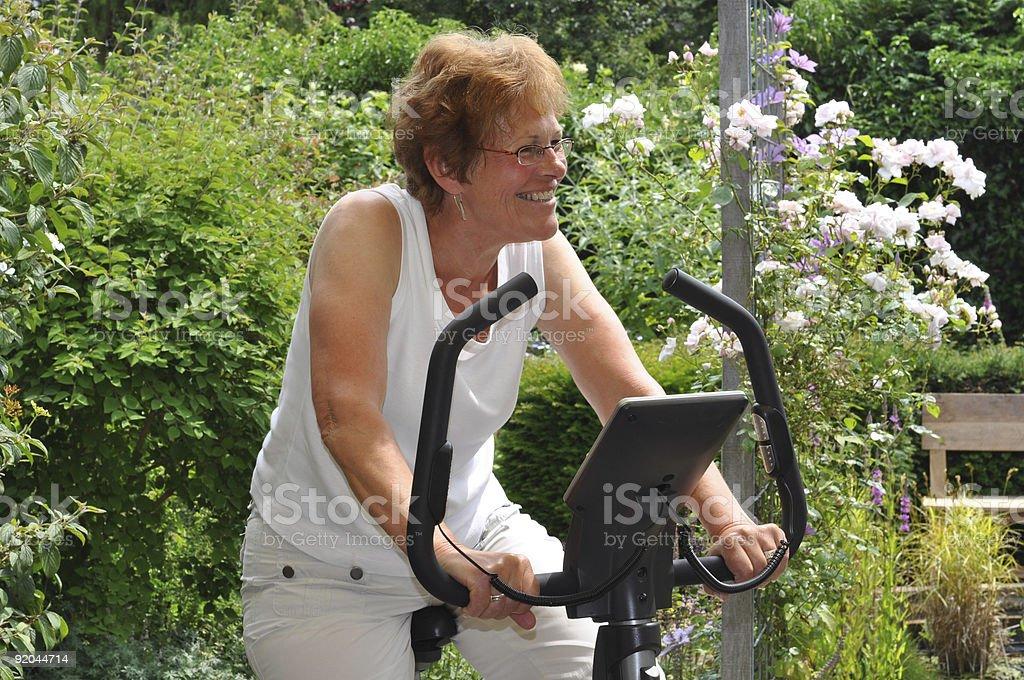 Senior woman excercising royalty-free stock photo