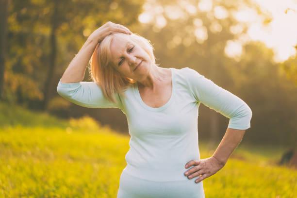 Ältere Frau Übung – Foto