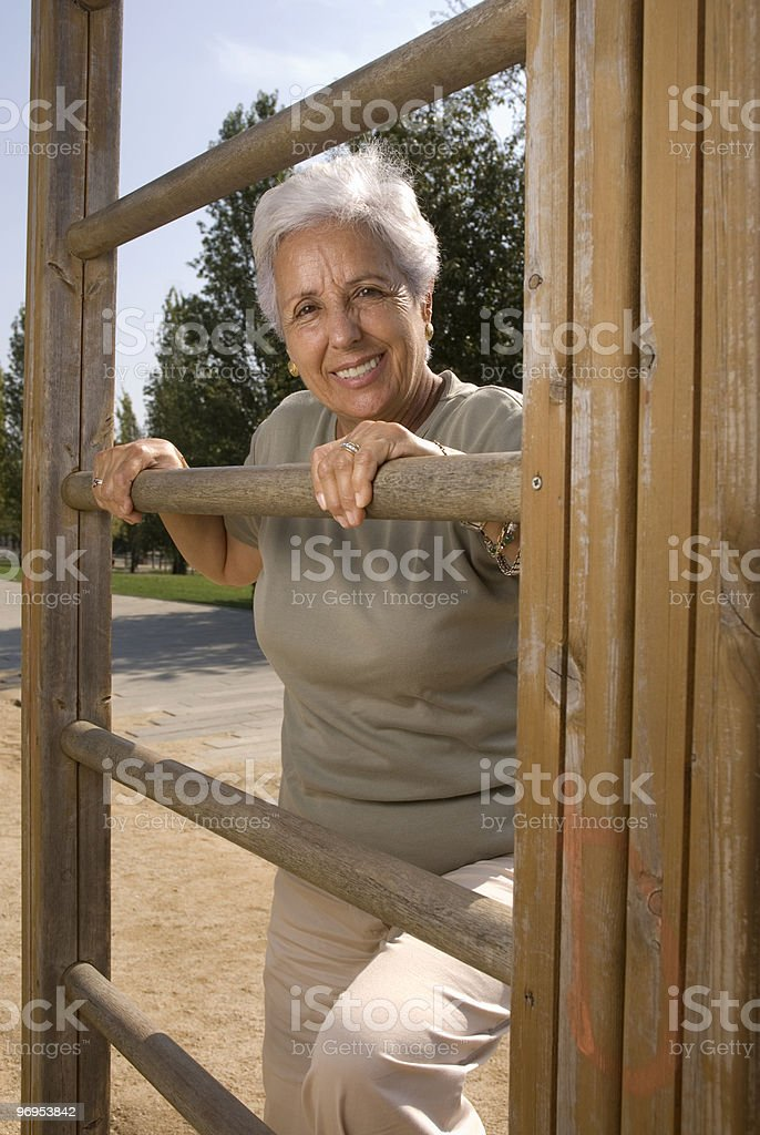 Senior woman exercising royalty-free stock photo