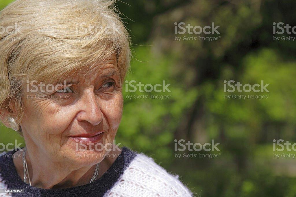 Senior woman expression royalty-free stock photo