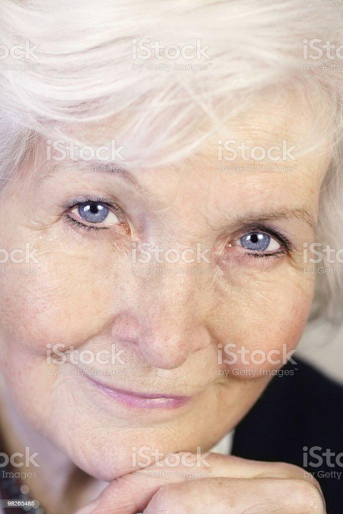 Senior woman face closeup royalty-free stock photo