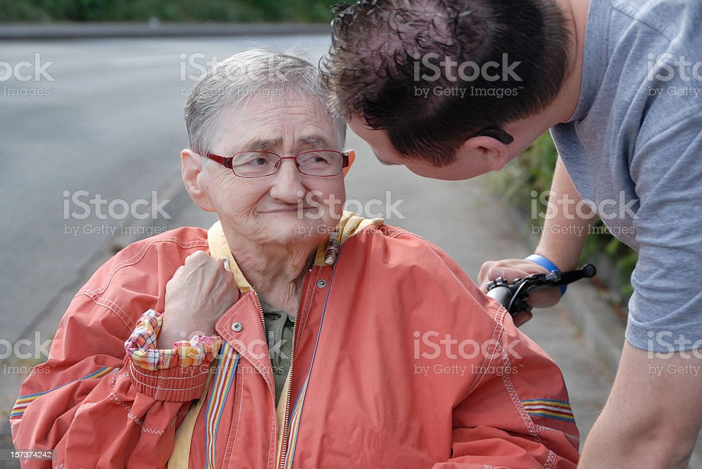 senior woman getting love and care royalty-free stock photo