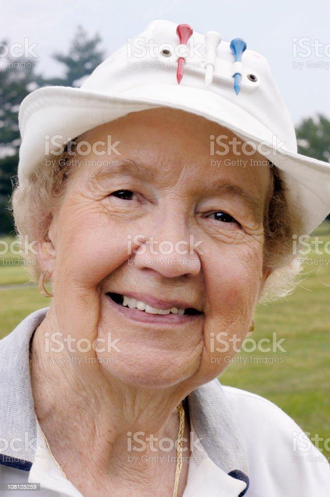 senior woman golfer portrait royalty-free stock photo