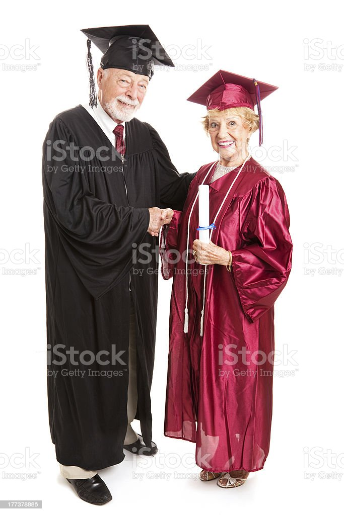 Senior Woman Graduate stock photo
