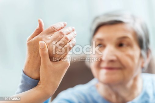 istock Senior woman having physical therapy. 170173580