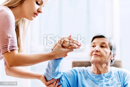 istock Senior woman having physical therapy. 170214795